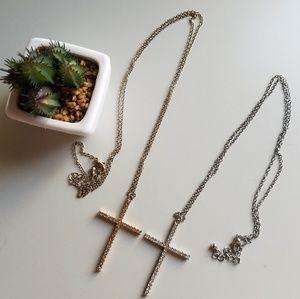 Jewelry - ✝Long cross necklace bundle✝
